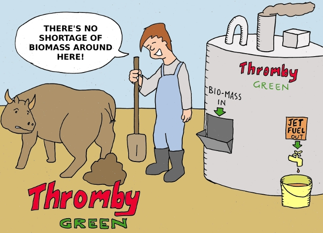 Thromby Air - Thromby Goes Green - Recycling sustainable biomass for jet fuel.