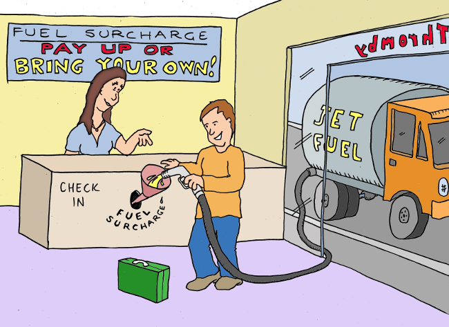 Thromby Air - Fuel Surcharge - you get the choice about how you pay your fuel surcharge