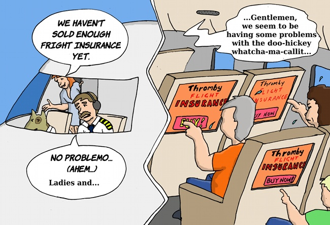 Thromby Air - Flight (fright) Insurance